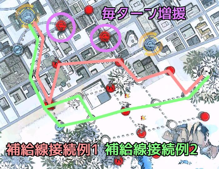秩序乱流2-2 補給線接続例