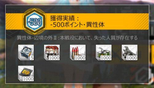 実績「-500ポイント・異性体」